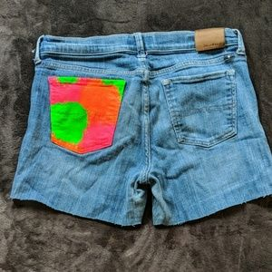 Lucky Brand cut off jeans with painted pocket